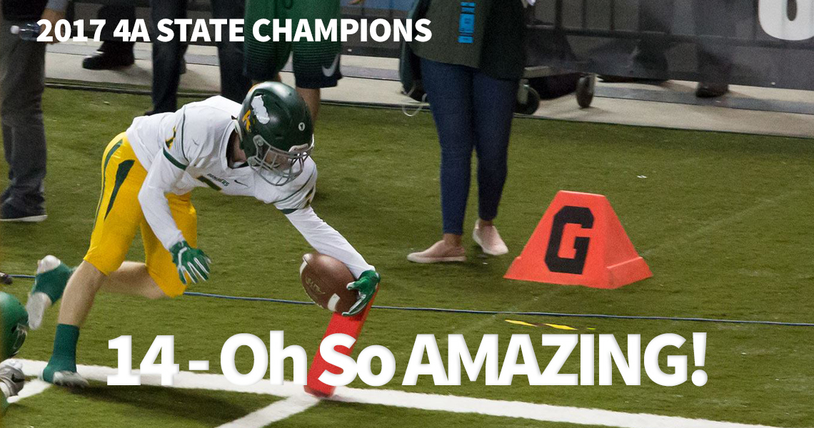 Adam Weissenfels scores the first touchdown at state.